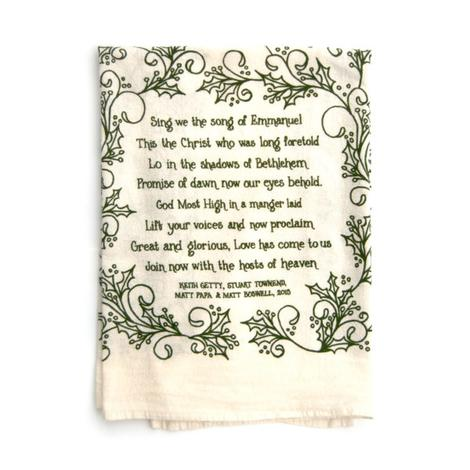 Tea Towel - Sing We the Song of Emmanuel by