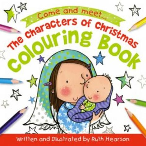 The Characters of Christmas Coloring Book by Ruth Hearson