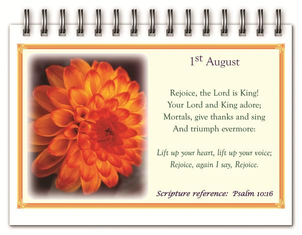 Perpetual Calendar Rejoice & Be Glad by