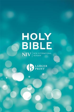 NIV Larger Print Blue Hardback Bible by NIV