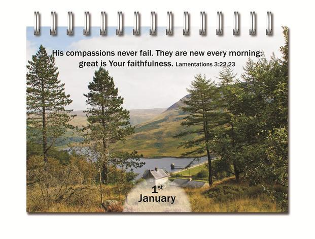 Perpetual Calendar Daily Bible Blessings by