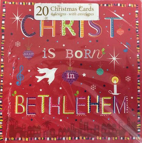 Rejoicing at the birth of Christ Christmas Cards pack of 20 by