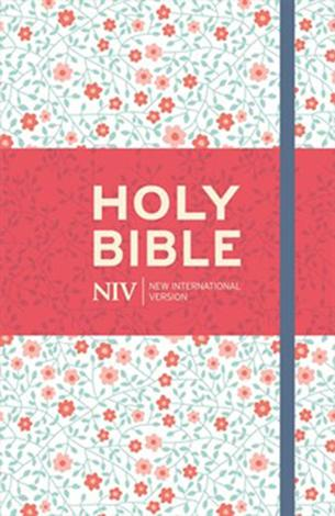 NIV Thinline Bible Floral Cloth Hardback by
