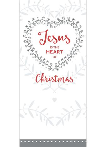 Jesus is the Heart of Christmas - White - 8 Pack by