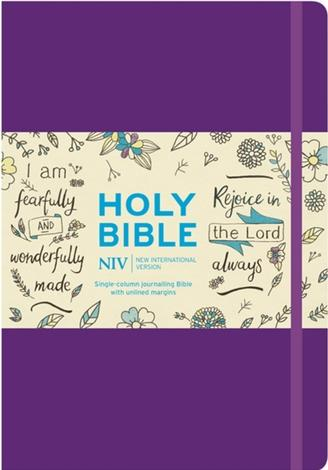 NIV Purple Single-Column Journalling Bible by