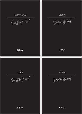 All Four Gospels Pack NIV Scripture Journal by