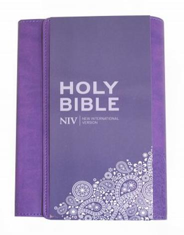NIV Thinline Bible (Purple Cover) by