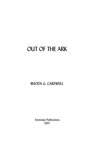 Out of the Ark (Free PDF eBook)