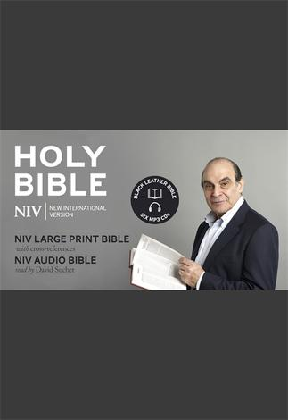 NIV David Suchet Audio and Large Print Leather Bible Gift Edition by