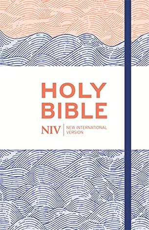 NIV Thinline Blue Waves Cloth Bible by