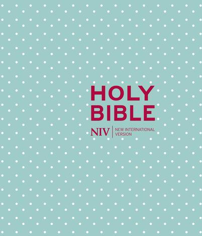 NIV Journaling Mint Polka Dot Cloth Bible by