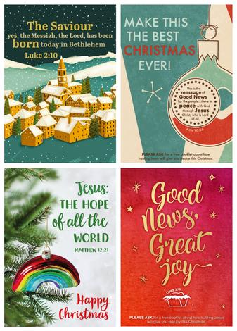 Four Christmas Evangelistic Posters Pack by