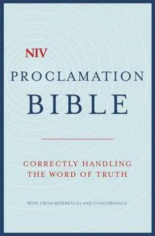 NIV Compact Proclamation Bible Hardback by