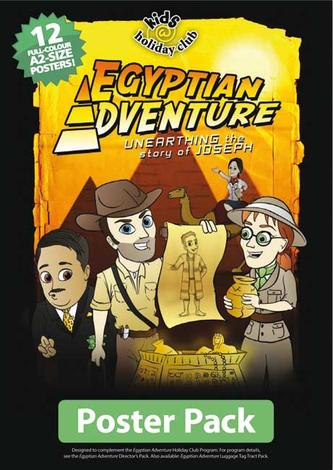 Egyptian Adventure (Full colour A2 Poster Pack of 12) by Loren Becroft