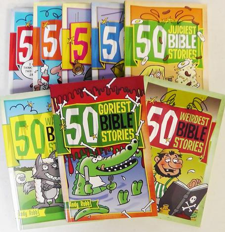 50 Bible Stories Collection [8 Pack] by Andy Robb