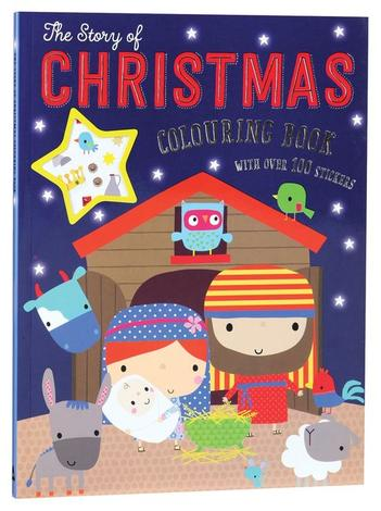 The Story Of Christmas Colouring Book by