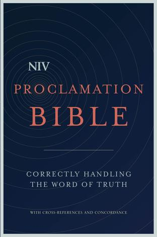 NIV Proclamation Bible by
