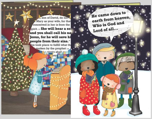Christmas Cards Carol Singers/Reader [Pack of 10] by Jenny Brake