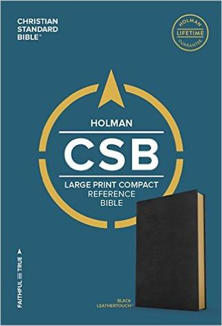 CSB Large Print Compact Reference Bible by