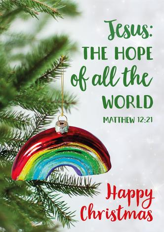 Jesus: The Hope Of All The World rainbow poster by