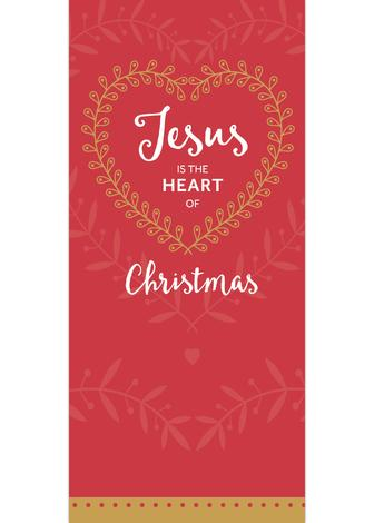 Jesus is the Heart of Christmas - Red - 8 Pack by