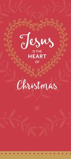 Jesus is the Heart of Christmas - Red - 8 Pack