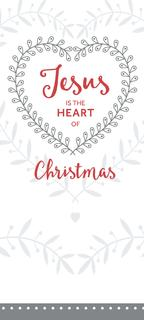Jesus is the Heart of Christmas - White - 8 Pack