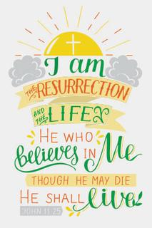 John 11 v 25 Easter Greetings Card